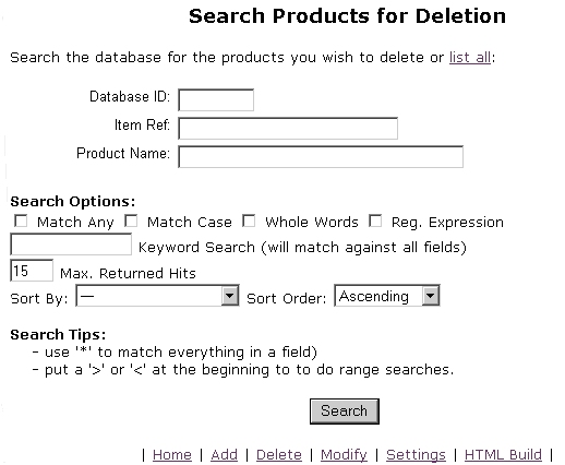 how to delete search history on a shopping site