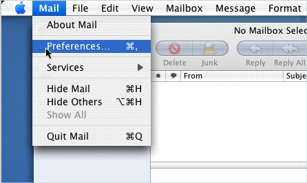 Mac Mail - Screen 1