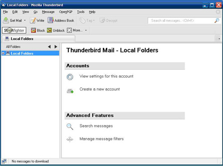 ThunderBird main screen