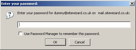 Enter the password for the email account